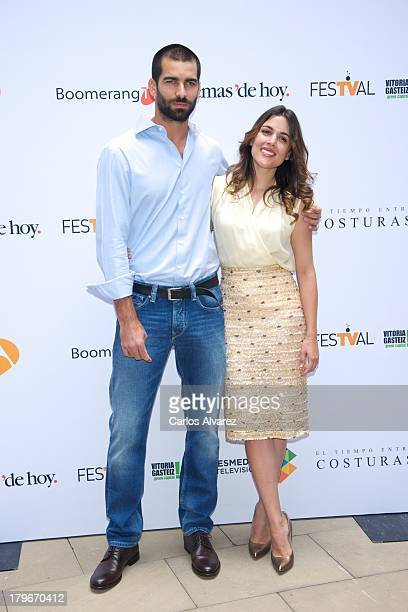 Spanish model and actor Ruben Cortada and Spanish actress Adriana Ugarte promote the 'El Tiempo Entre Costuras' new season during the day five of 5th...