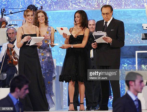 Spanish Model and actress Ines Sastre attends the David Di Donatello Movie Awards Ceremony on April 14 2004 in Rome Italy The awards are Italy's top...