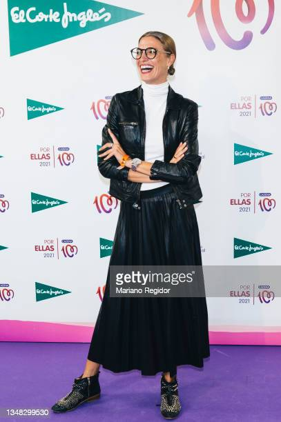 Spanish model and actress Laura Sanchez attends the 'Por Ellas' charity concert against breast cancer photocall at WiZink Center on October 23, 2021...