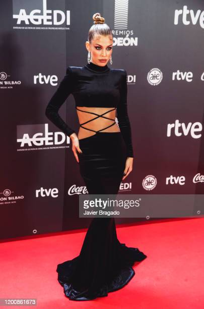 Spanish Model and influencer Jessica Goicoechea attends the 1st Odeon Awards at Teatro Real on January 20, 2020 in Madrid, Spain.