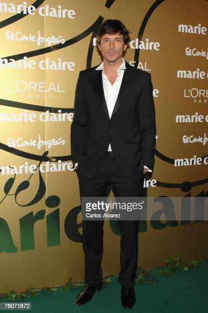 Spanish model Andres Velencoso attends the 5th Marie Claire Magazine Awards at the French Embassy November 22 2007 in Madrid Spain