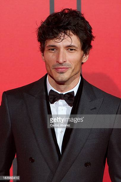 Spanish model Andres Velencoso attends the Vanity Fair 5th anniversary paty at the Santa Coloma Palace on October 10 2013 in Madrid Spain