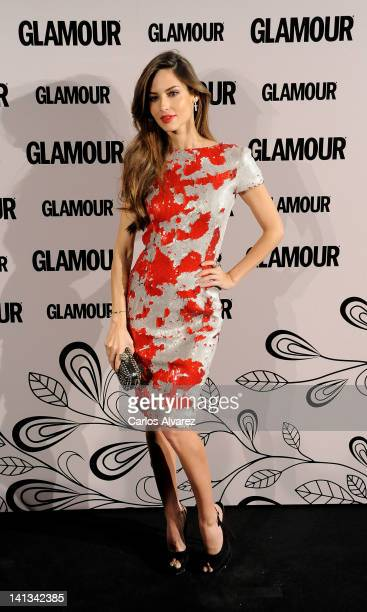 Spanish model Ariadne Artiles attends 'Glamour' beauty awards 2012 at Pacha Club on March 14 2012 in Madrid Spain