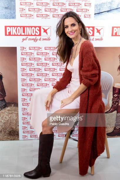 Spanish model Ariadne Artiles presents Pikolinos new store at Calle Preciados on November 15 2019 in Madrid Spain
