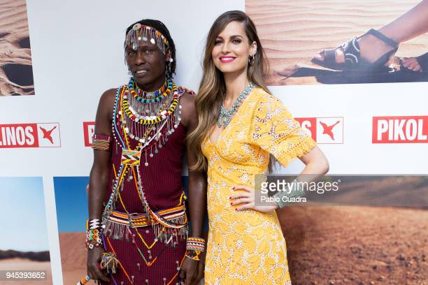 Spanish model Ariadne Artiles presents project Maasai by Pikolinos on April 12 2018 in Madrid Spain