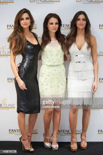 Spanish model Ariadne Artiles Spanish actress Paula Ecevarria and Spanish sports journalist Sara Carbonero attend new Pantene Clinic opening on March...