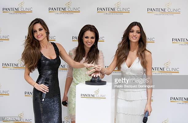 Spanish model Ariadne Artiles Spanish actress Paula Echevarria and Spanish sports journalist Sara Carbonero attend new Pantene Clinic opening on...