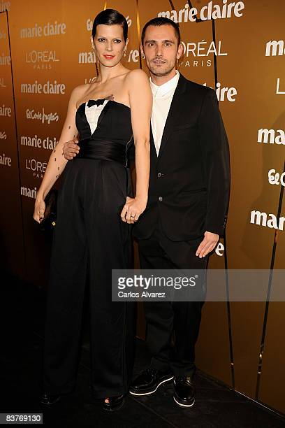 Spanish model Bimba Bose and designer David Delfin attend Marie Claire Prix de la Mode 2008 awards at French Embassy on November 20 2008 in Madrid...