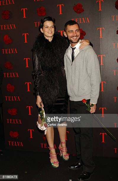 Spanish model Bimba Bose and designer David Delfin attend the 'Telva Magazine Fashion Awards' presided over by designer Jean Paul Gaultier and...