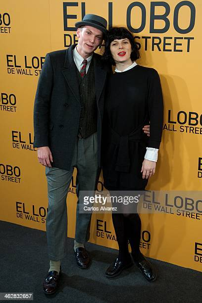 """Spanish model Bimba Bose and model Charlie Centa attend the """"The Wolf of Wall Street"""" premiere at the Palafox cinema on January 15, 2014 in Madrid,..."""