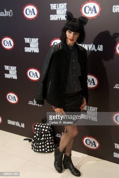 Spanish model Bimba Bose inaugurates the new C&A Shop on October 3, 2013 in Madrid, Spain.