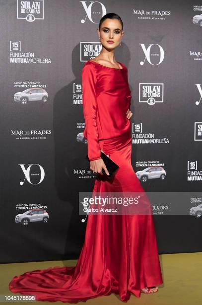 Spanish model Blanca Padilla attends the 'YO DONA' International Awards 2018 at Palacio de Linares on October 3 2018 in Madrid Spain