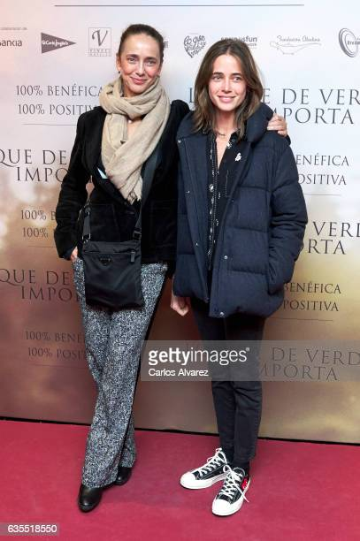 Spanish model Blanca Suelves and Blanca Osorio Suelves attend 'Lo Que De Verdad Importa' premiere at the Capitol cinema on February 15 2017 in Madrid...
