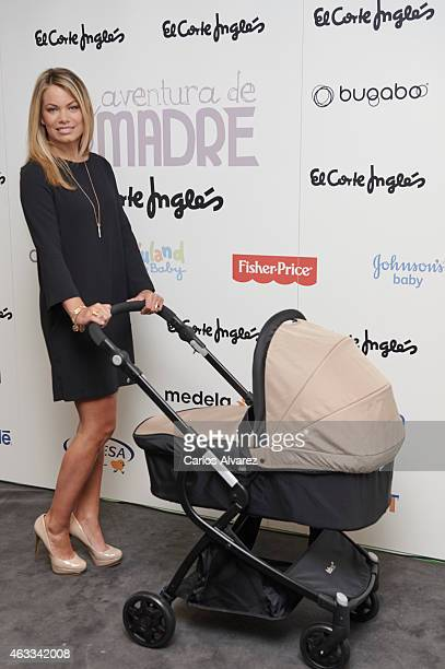 Spanish model Carla Goyanes attends 'Mundo del Bebe' presentation at the El Corte Ingles Preciados store on February 13 2015 in Madrid Spain