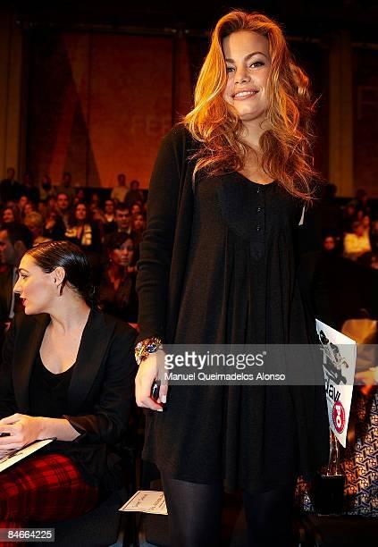 Spanish model Carla Goyanes attends the Hannibal Laguna Valencia PretaPorter Autumn/Winter 2009 show at Feria de Valencia on February 5 2009 in...