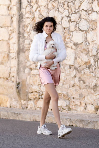 ESP: Claire Alemany Street Style Shooting In Mallorca