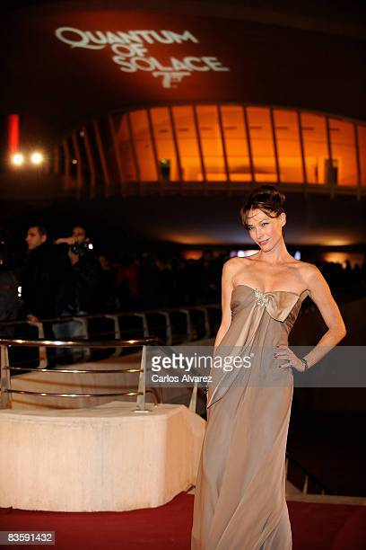 Spanish model Cristina Piaget attends the Quantum of Solace premiere at the Palau de las Arts on November 06 2008 in Valencia Spain