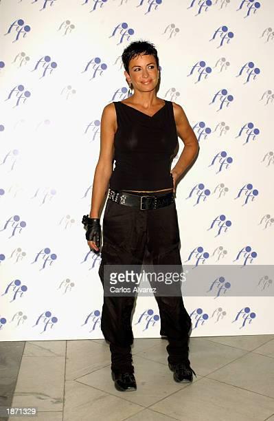 Spanish model Daniela Cardone attends the European FIFI Fragrance Foundation Awards at Circulo de Bellaa Artes March 25 2003 in Madrid Spain
