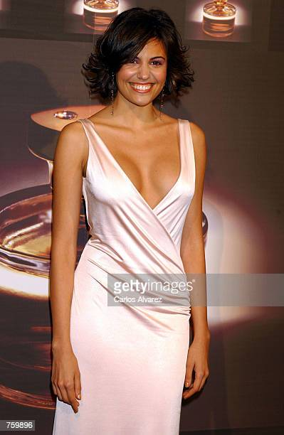 Spanish model Diana Nogueira attends a party for Ralph Lauren's new perfume 'Glamorous' April 11 2002 in Madrid Spain