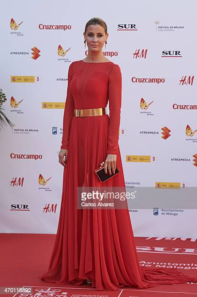 Spanish model Elizabeth Reyes attends the 18th Malaga Film Festival opening ceremony at the Cervantes Theater on April 17, 2015 in Malaga, Spain.