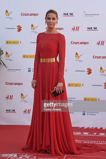 Spanish model Elizabeth Reyes attends the 18th Malaga Film Festival opening ceremony at the Cervantes Theater on April 17 2015 in Malaga Spain