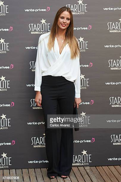 Spanish model Estefania Luyk attends the 'Pure Starlite' party presentation at the Hotel Puro on May 26 2015 in Madrid Spain