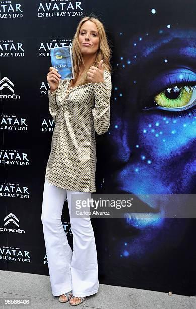 Spanish model Estefania Luyk presents 'Avatar' in DVD and Blu Ray on April 21 2010 in Madrid Spain