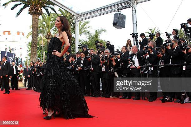 Spanish model Eugenia Silva arrives for the screening of 'Poetry' presented in competition at the 63rd Cannes Film Festival on May 19 2010 in Cannes...