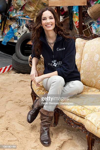 Spanish model Eugenia Silva attends the opening of the 'Hotel Coronita Save the Beach' exhibition at Callao Square on January 20 2011 in Madrid Spain