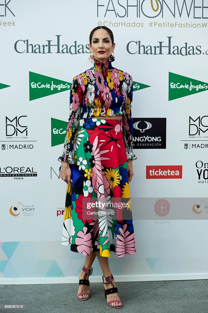 Spanish model Eugenia Silva attends 'The Petite Fashion Week' at the Cibeles Palace on October 6, 2017 in Madrid, Spain.