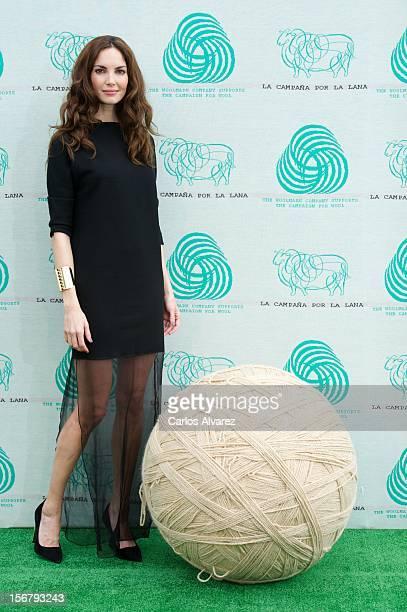 Spanish model Eugenia Silva inaugurates the Wool Week 2012 at Plaza de Colon on November 21 2012 in Madrid Spain
