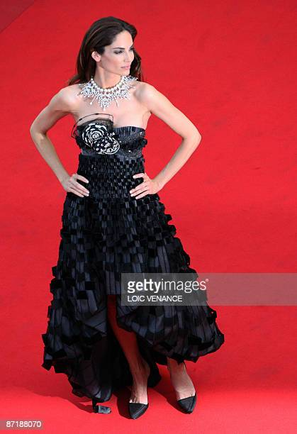 Spanish model Eugenia Silva poses as she arrives for the opening ceremony and the screening of 3D animated movie 'Up' during the 62nd Cannes Film...