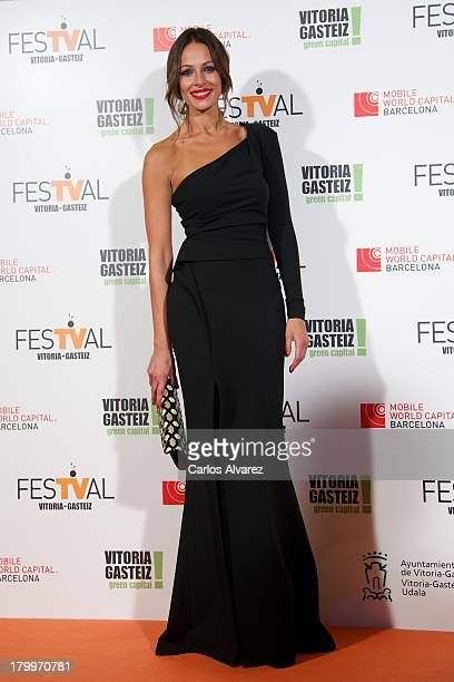 Spanish model Eva Gonzalez attends the 5th FesTVal Television Festival 2013 closing ceremony at the Principal Theater on September 7 2013 in...