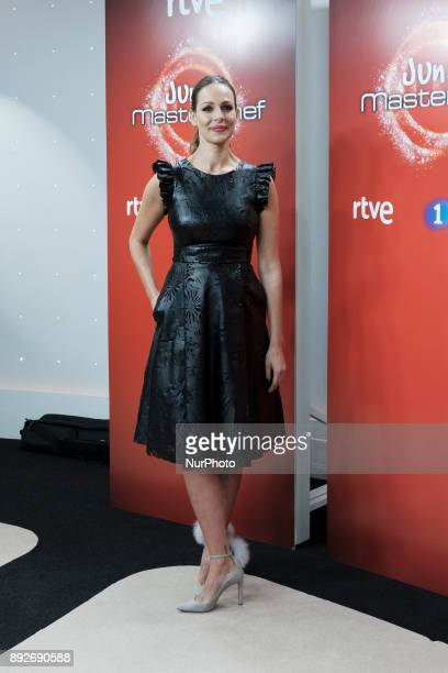 Spanish model Eva Gonzalez attends the presentation of a new seson of 'Masterchef Junior' at TVE studios on December 14 2017 in Madrid Spain