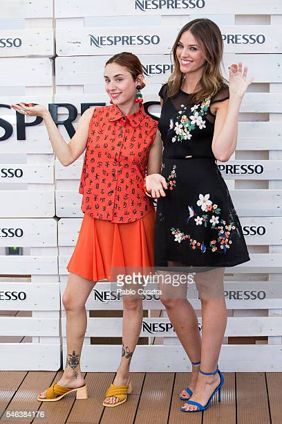 Spanish model Helen Lindes and Miranda Makaroff present Grand Cru Envivo Lungo by Nespresso at ME Hotel on July 12 2016 in Madrid Spain