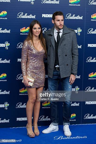 Spanish model Helen Lindes and Rudy Fernandez attend the '40 Principales Awards' 2013 photocall at Palacio de los Deportes on December 12 2013 in...