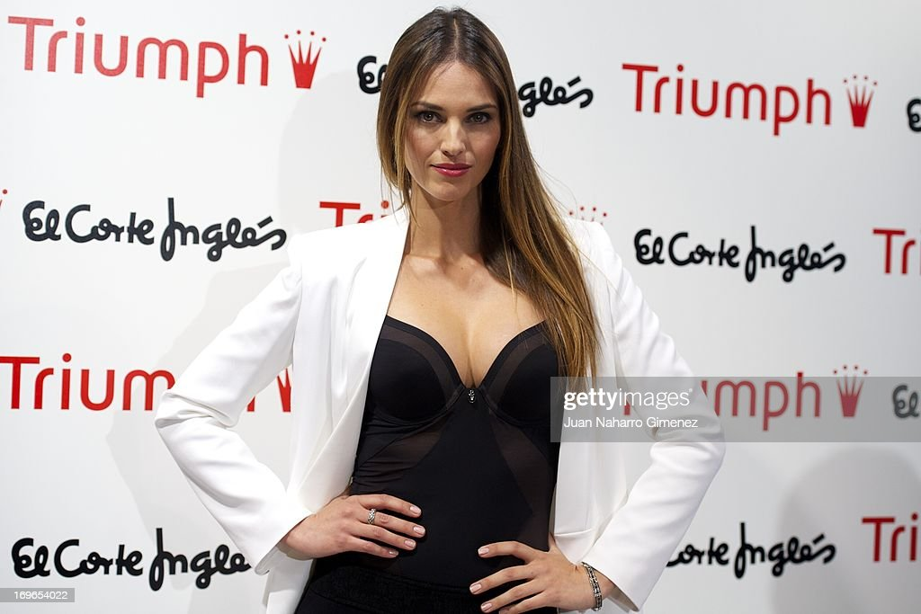 Spanish model Helen Lindes attends a presentation of 'Shape Sensation' new collection at El Corte Ingles store on May 30, 2013 in Madrid, Spain.