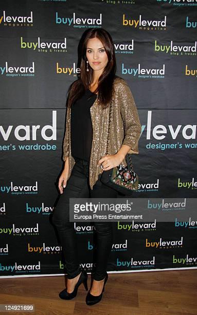 Spanish model Helen Lindes presents 'Buylevar' website on September 13 2011 in Madrid Spain