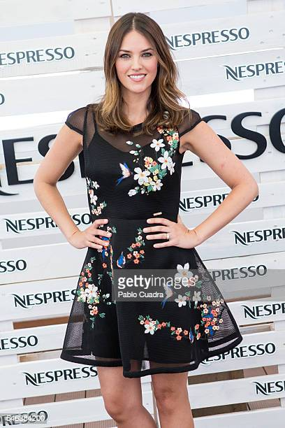 Spanish model Helen Lindes presents Grand Cru Envivo Lungo by Nespresso at ME Hotel on July 12 2016 in Madrid Spain