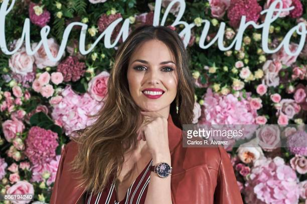 Spanish model Helen Lindes presents the new watches vintage collection by Olivia Burton at the Orfila hotel on October 25 2017 in Madrid Spain