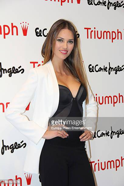 Spanish model Helen Lindes presents the 'Shape Sensation' new Triumph collection on May 30 2013 in Madrid Spain