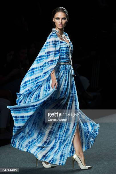 Spanish model Helen Lindes walks the runway at the Ion Fiz show during the MercedesBenz Fashion Week Madrid Spring/Summer 2018 at Ifema on September...