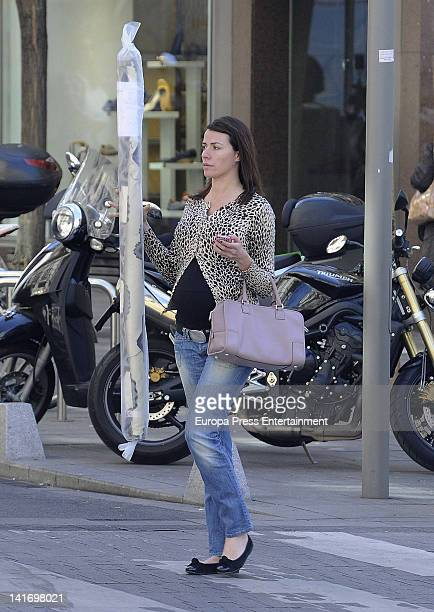 Spanish model Ines Sainz who is pregnant sighted on March 13 2012 in Madrid Spain