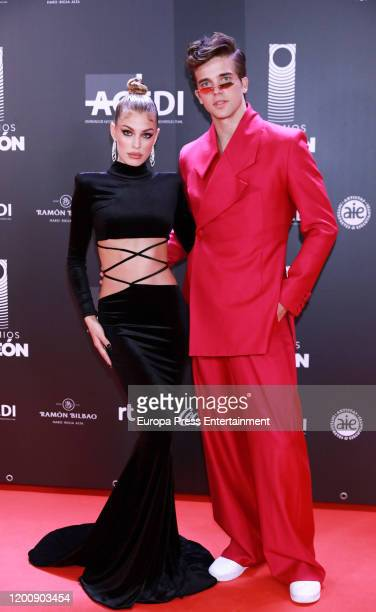 Spanish model Jessica Goicoechea and Spanish model River Viiperi attend Odeon Awards 2020 at Royal Theater on January 20 2020 in Madrid Spain