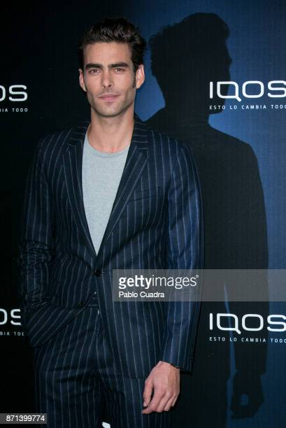 Spanish model Jon Kortajarena attends the 'IQOS' presentation at the Nubel restaurant on November 7 2017 in Madrid Spain