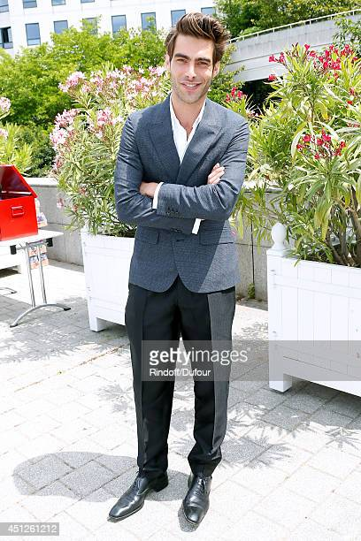Spanish Model Jon Kortajarena attends the Louis Vuitton show as part of the Paris Fashion Week Menswear Spring/Summer 2015 on June 26 2014 in Paris...