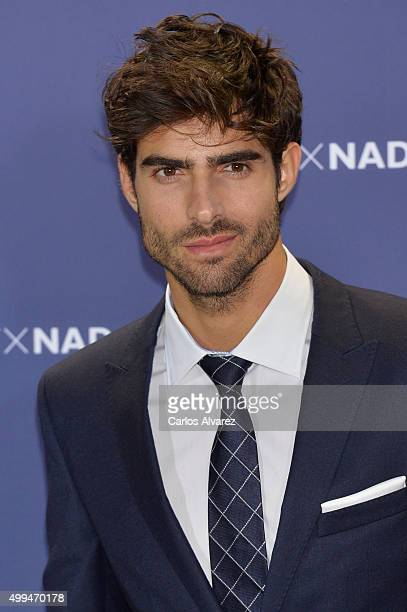 Spanish model Juan Betancourt attends Tommy Hilfiger event at the Cibeles Palace on December 1 2015 in Madrid Spain