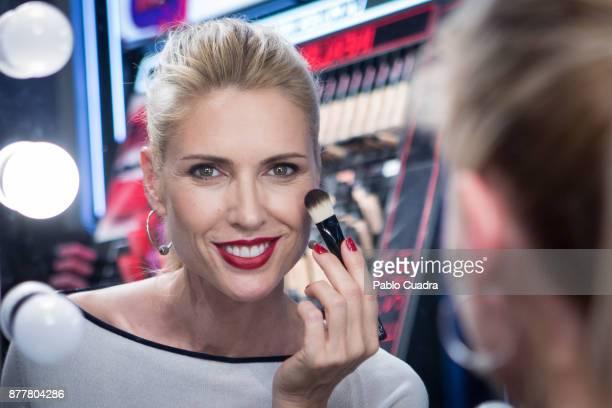 Spanish Model Judit Masco attends the L'Oreal Paris Corner opening at El Corte Ingles Store on November 23, 2017 in Madrid, Spain.
