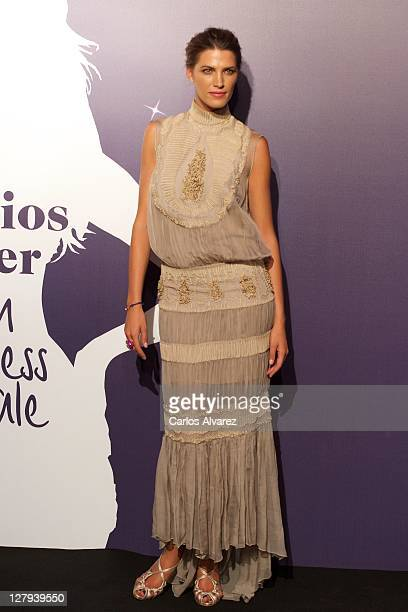 Spanish model Laura Sanchez attends Cosmopolitan Fun Fearless Female awards 2011 at the Ritz Hotel on October 3 2011 in Madrid Spain