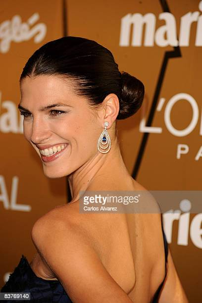 Spanish model Laura Sanchez attends Marie Claire Prix de la Mode 2008 awards at French Embassy on November 20 2008 in Madrid Spain